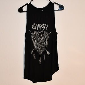 Long black t shirt dress with holes on the front